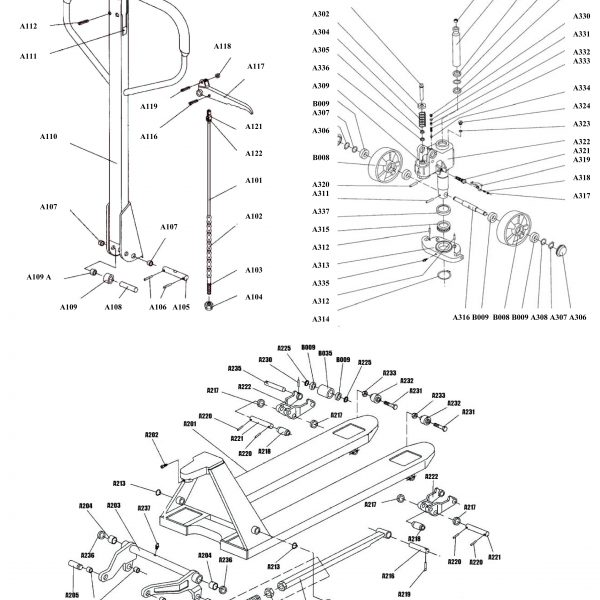A Series Pallet Jack Parts - Diagram