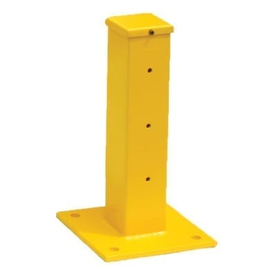 Safety guard rail post